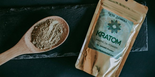 Green Vietnam Kratom. Bread food wood dark