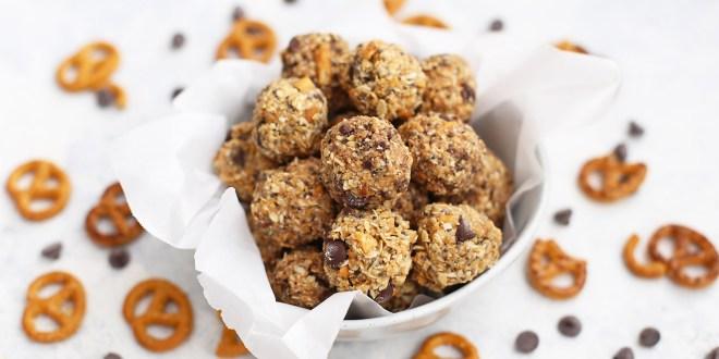 Peanut Butter Pretzel Protein Balls recipe