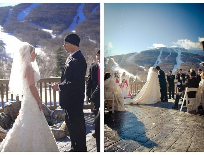 stowe mountain winter wedding