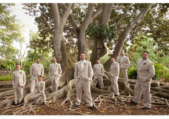 tan suites for groomsmen