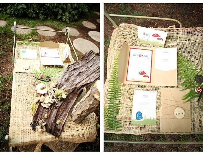 woodland wedding invitation ideas