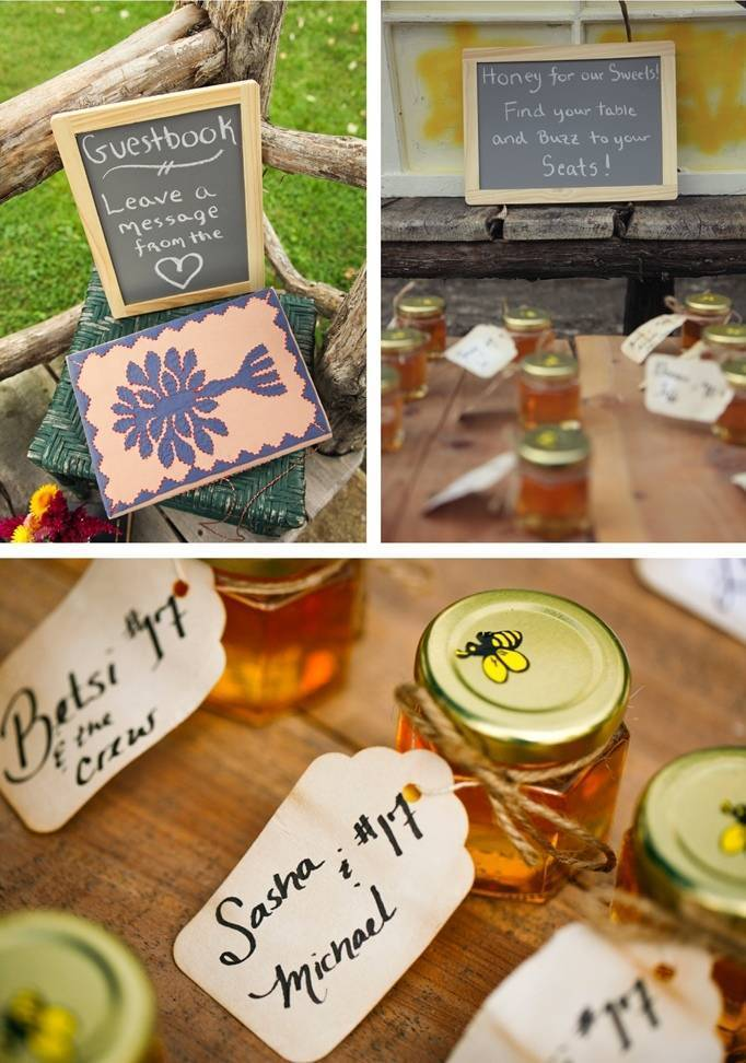 honey bee wedding favors