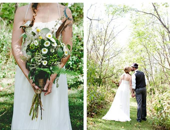 big woodland wedding bouqet