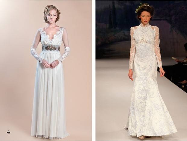 Claire Pettibone long sleeve wedding dress