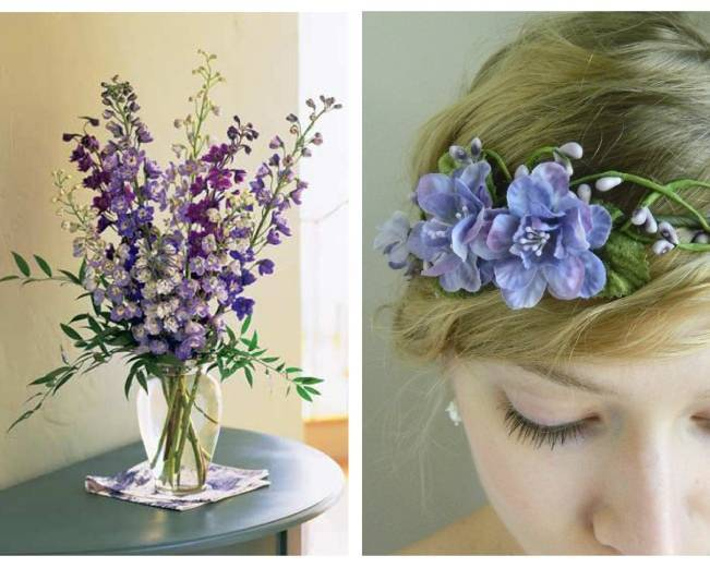 purple blue flower hair crown