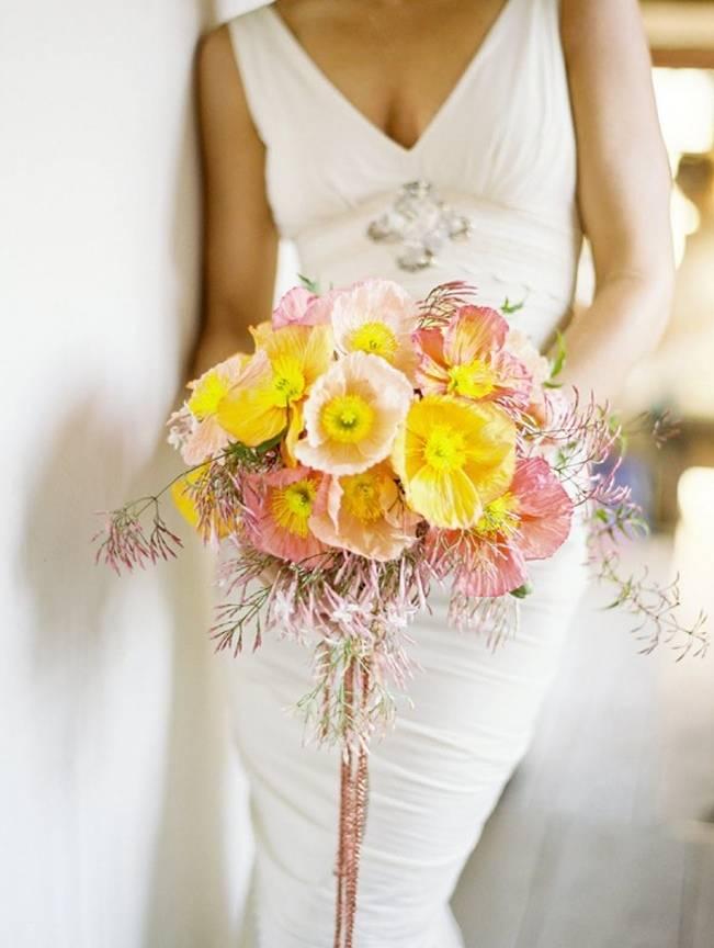 pink yellow jasmine bouquet jose villa