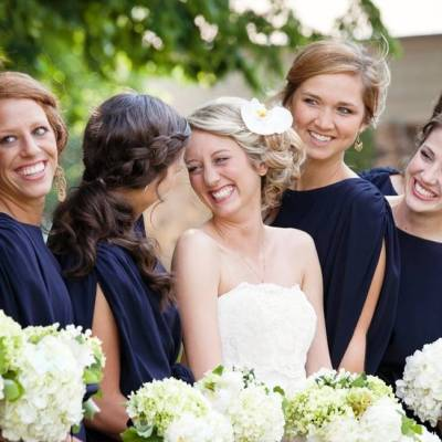 Navy + Green Wedding at the Stone Chapel {from Photo Love}