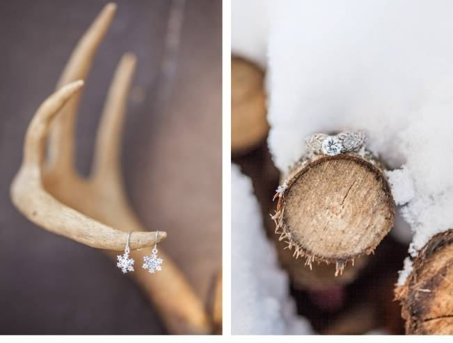 winter wedding snowflake jewelry