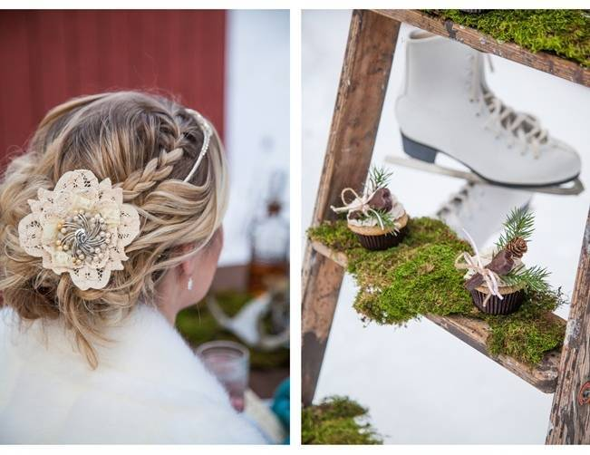 winter wedding hair accessory