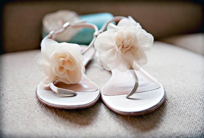 floral bridal sandals