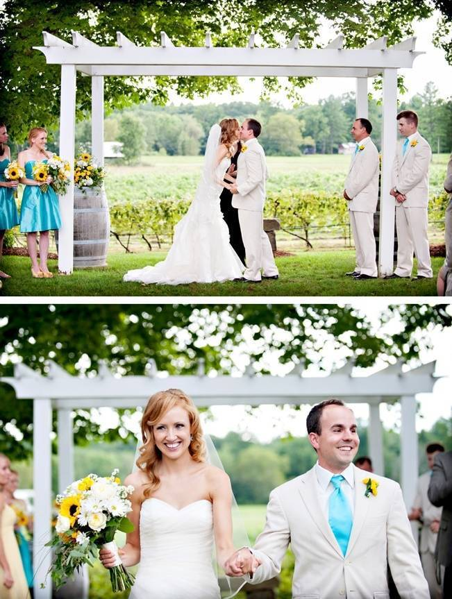 flag hill winery nh wedding ceremony