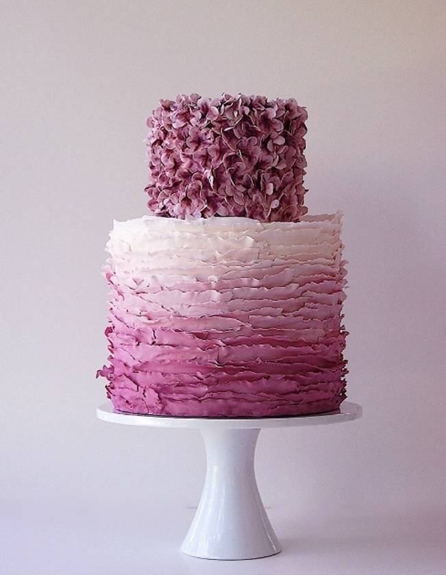 purple plum ruffle ombre cake, maggie austin