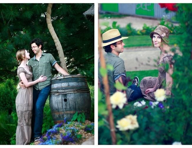 parisian garden engagement