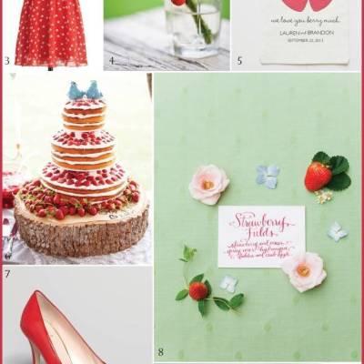 Wedding Inspiration Board #4: Wild Strawberry