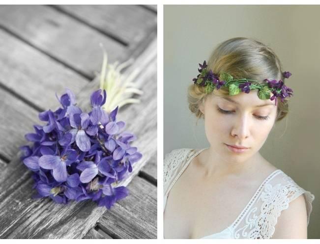 sweet violet hair crown
