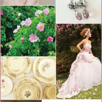 Wedding Inspiration Board #6: Wild Rose