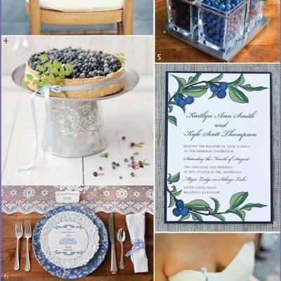 Wedding Inspiration Board #8: Blueberry Beauty