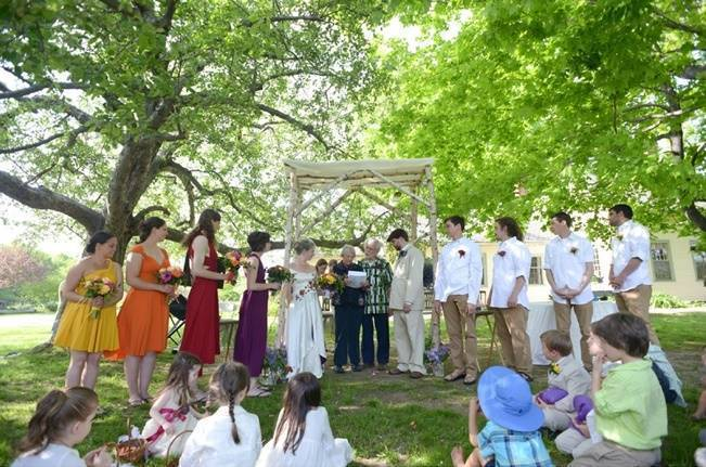 outdoor earthy wedding ceremony