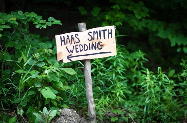 rustic wedding sign
