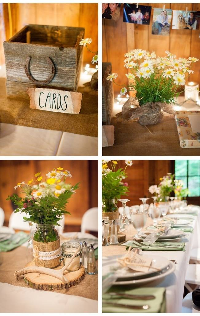 wildflower rustic centerpieces