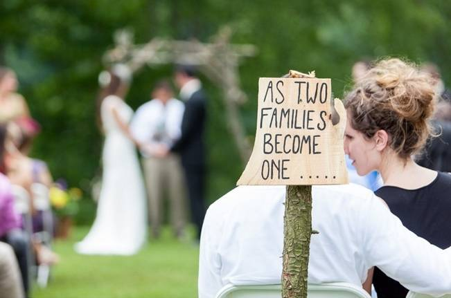 rustic wedding ceremony signs