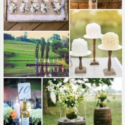 Wedding Inspiration Board #10: Rustic Vineyard
