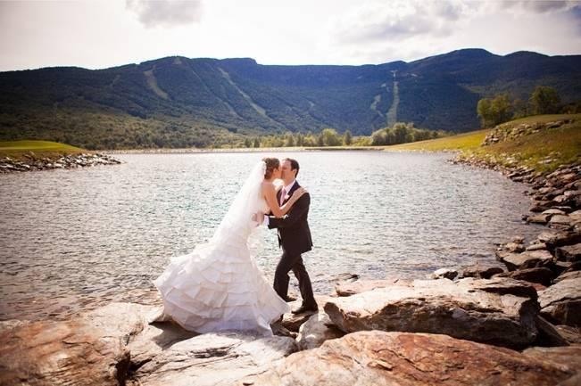 mountain lake wedding