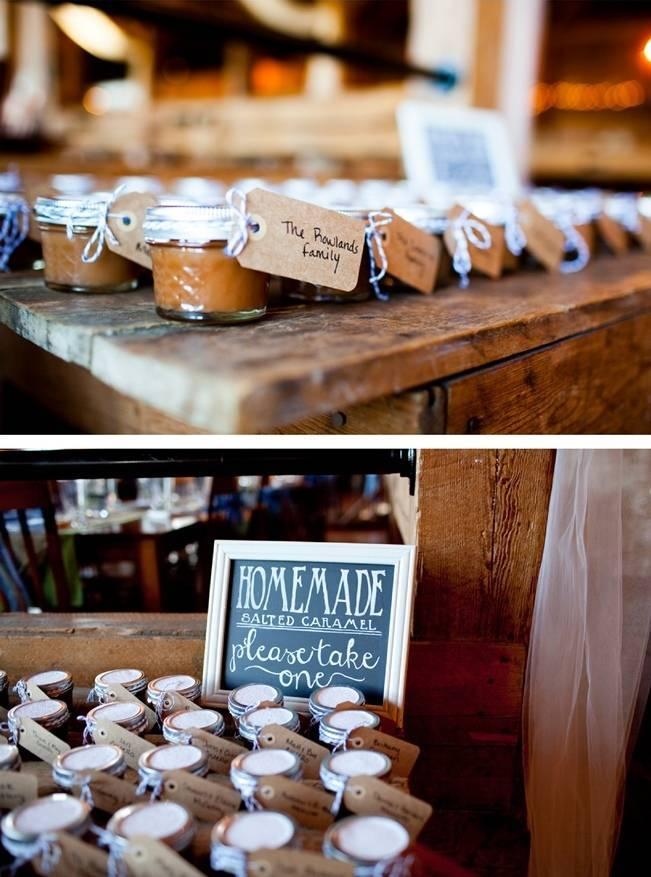 homemade wedding favors salted caramel