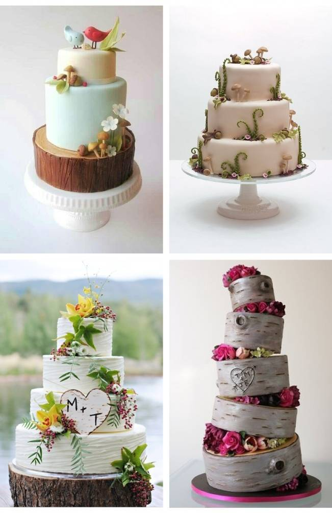whimsical woodland cakes