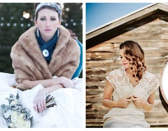 winter wedding fur wrap