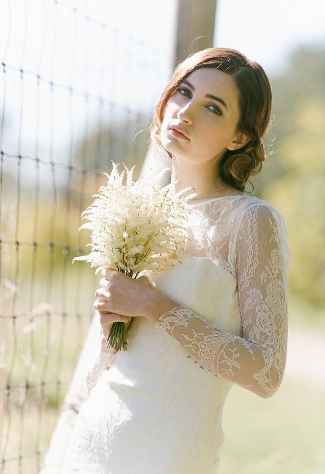 ivory astilbe bouquet