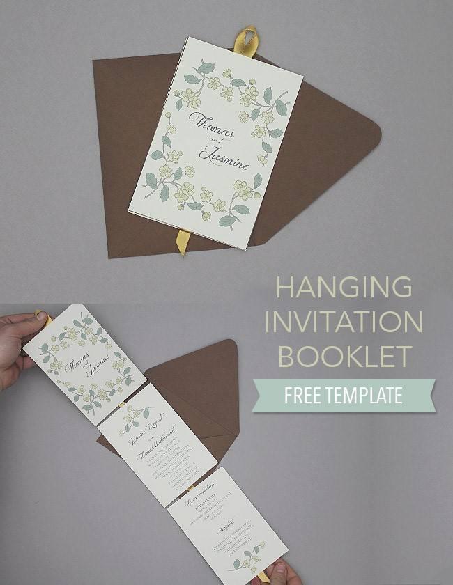 hanging booklet invitation