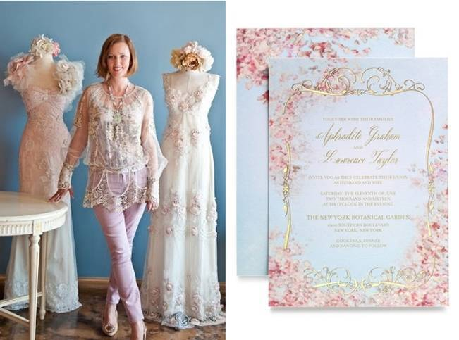 Claire Pettibone Wedding Stationery - Earthly Paradise