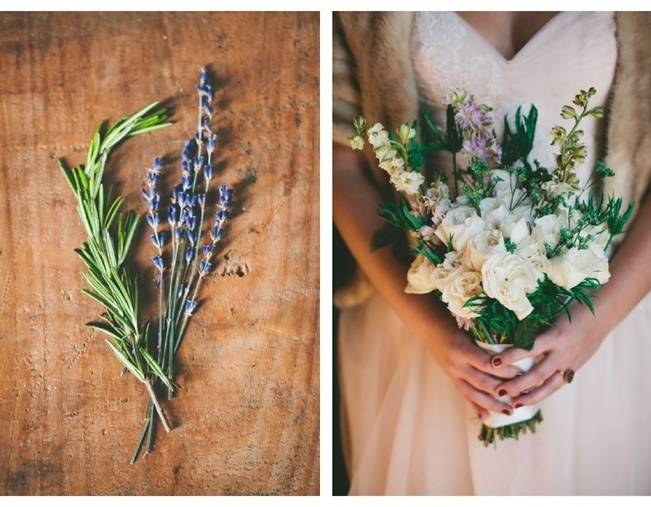 Lavender + Rosemary Winter Wedding Inspiration {Blue Jar Events + Jennifer Bakos Photography} 2