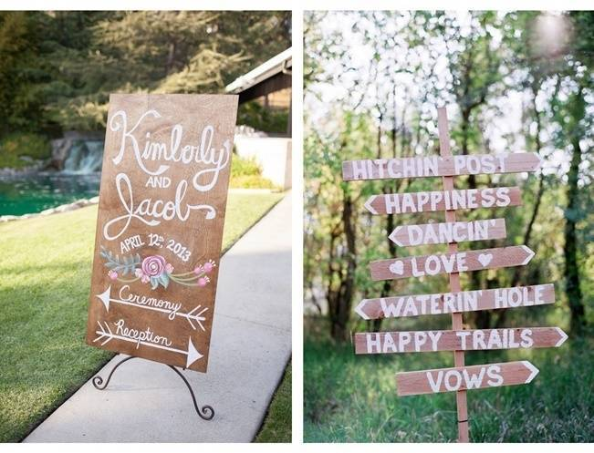 16 Awesome Rustic Wedding Signs 8