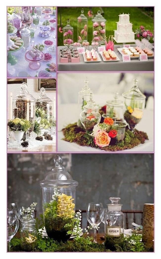 Ideas for Apothecary Jar Wedding Centerpieces and Decor
