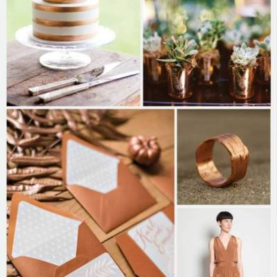 Wedding Color Palette: Copper