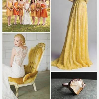 Wedding Color Palette: Citrine