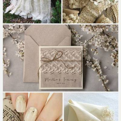 Wedding Color Palette: Ecru