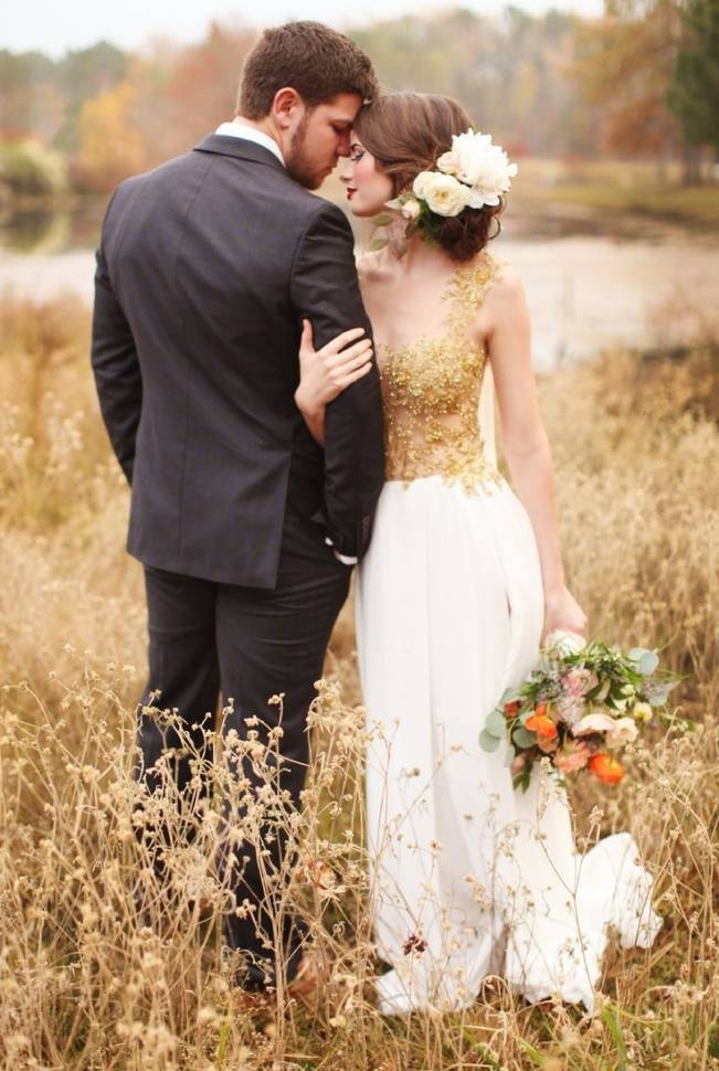 Gold Wedding Dress Inspiration 1