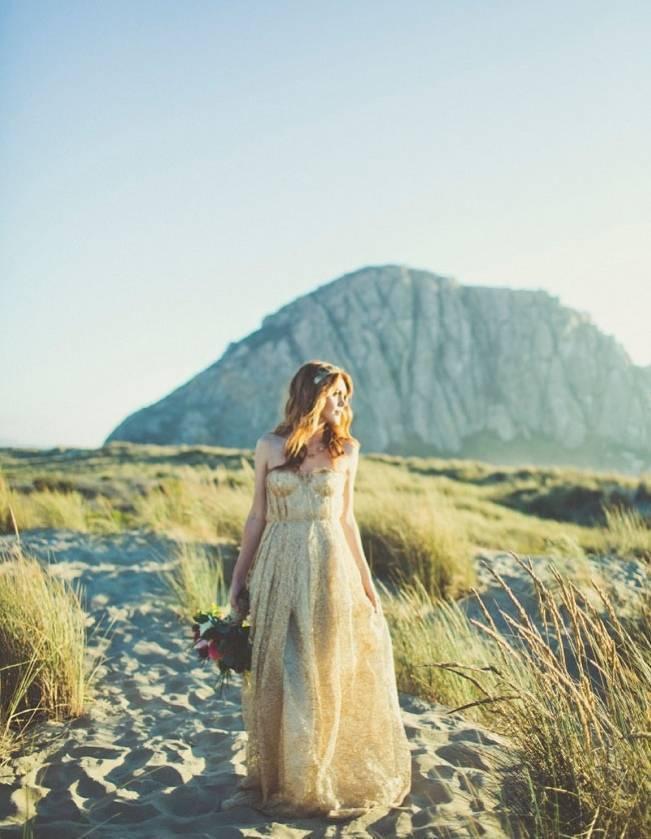 Gold Wedding Dress Inspiration 13