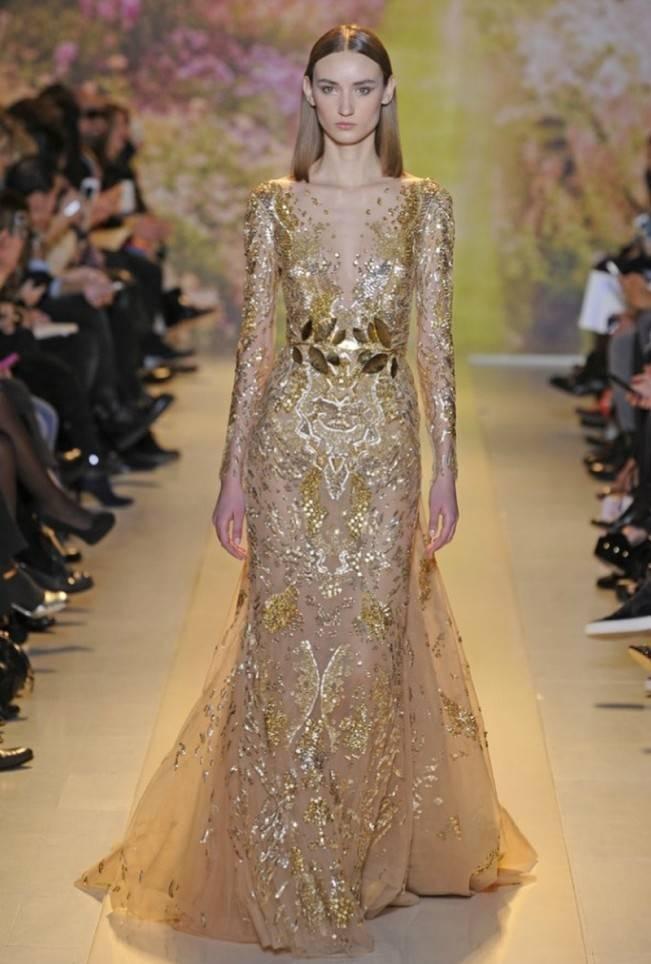 Gold Wedding Dress Inspiration 14