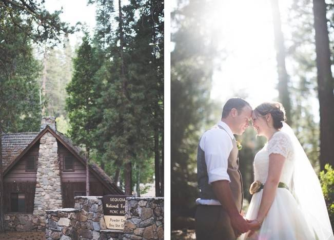 Rustic Sequoia National Park Wedding at {Carly Short Photography} 15
