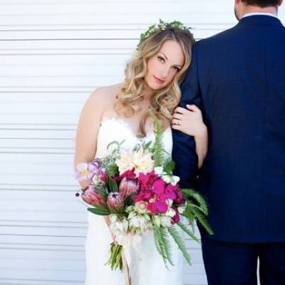 Backyard Vintage Boho Wedding {Christina O'Brien Photography}