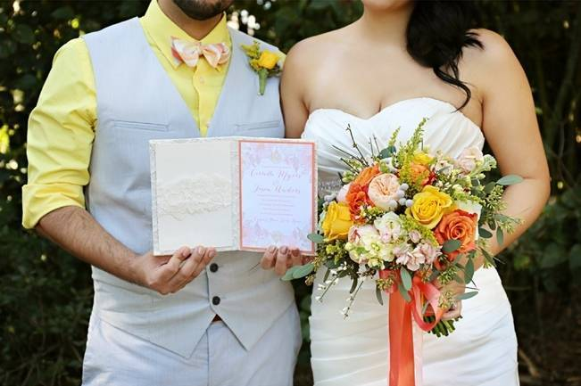 Fun Bright Wedding + Ideas for the Little Ones {Heather Rice Photography} 5