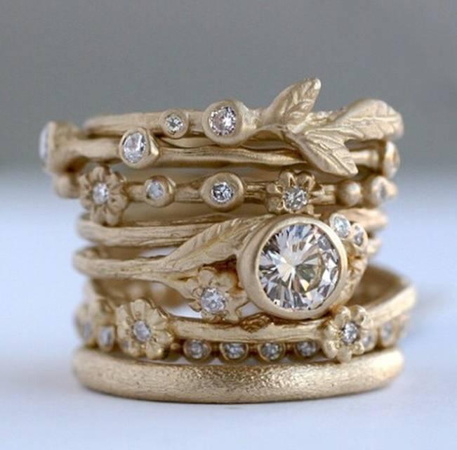 Stackable Engagement Wedding Rings BridalPulse