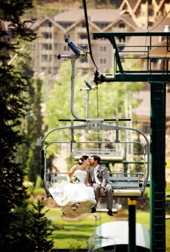 Green + Ivory Mountain Wedding at Deer Valley Resort  5