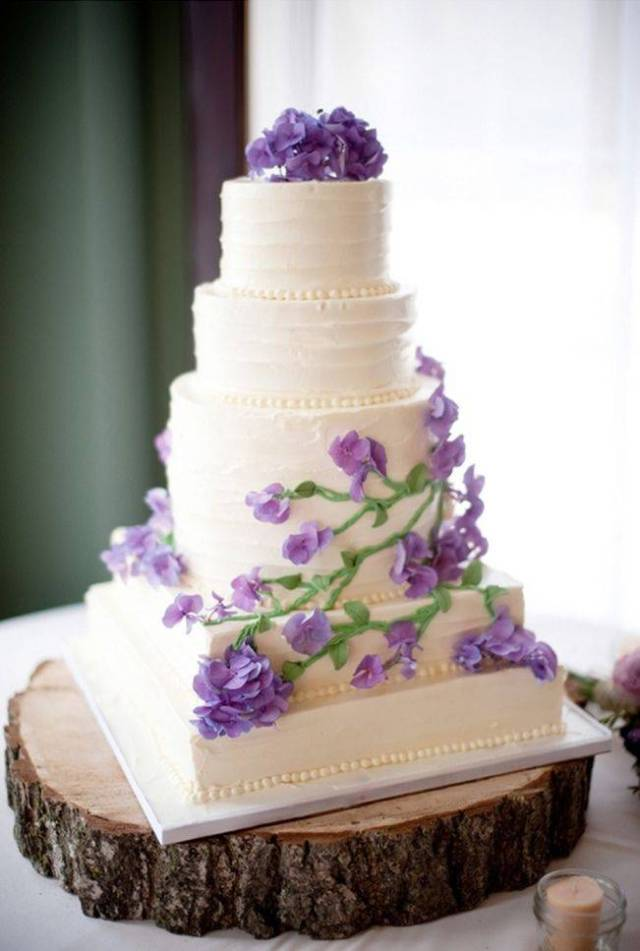 Prettiest Purple Cakes 11 - rustic-green-purple-wedding-from-garden-party