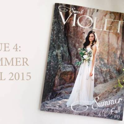 Sweet Violet Bride Magazine – Issue 4 is Now Available!
