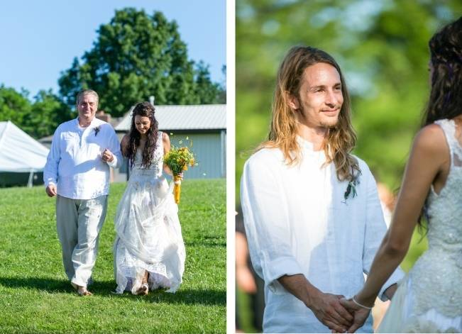 DIY Barefoot Summer Wedding {M and E Photo Studio} 13
